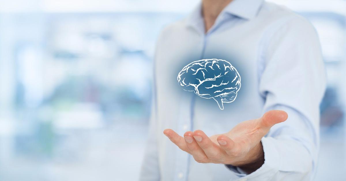 Dibujo de un cerebro; neurofeedback