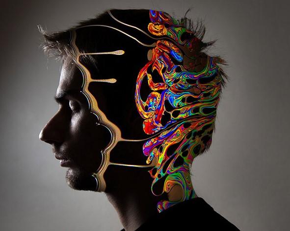 Dibujo del cerebro con trastornos del neurodesarrollo