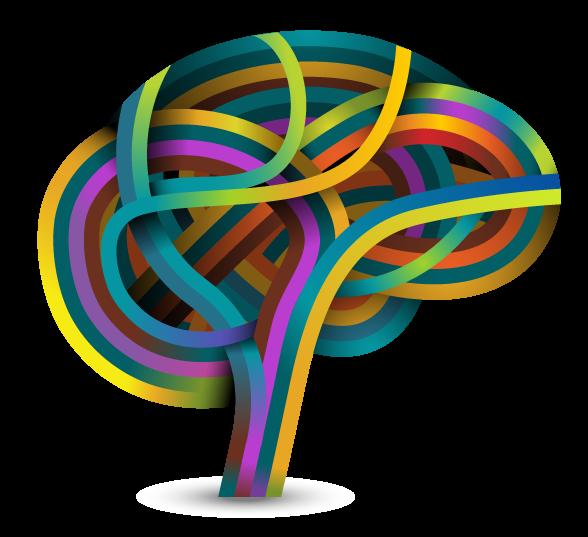 Clipart cerebro para web de SÁBILIS. Centro de tratamientos neuropsicología en España